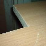 сколы на столешнице от распила